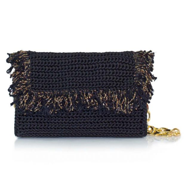 bailloo Black Handmade knitted bag BLM709