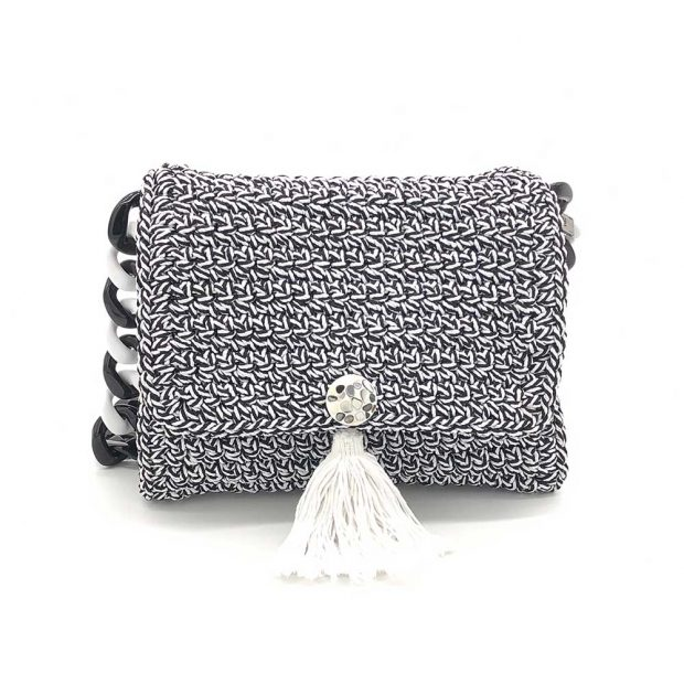 Black n' White Handmade knitted bag BLM720