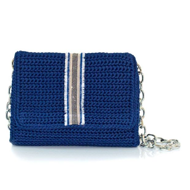bailloo Dark Blue Handmade knitted bag BLT712
