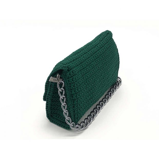 Dark-Green-Handmade-knitted-bag-BLS713-3