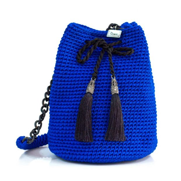 bailloo Royal Blue Handmade knitted pouch BLP728