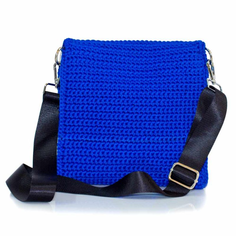 bailloo Square Handmade knitted bag with pattern BLT707
