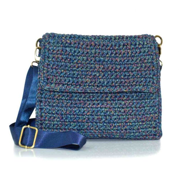 bailloo Square Multicolored Handmade knitted bag BLT725