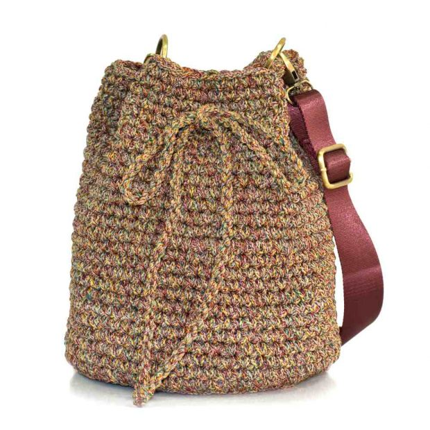 bailloo Multicolored handmade knitted kourelou pouch BLP741