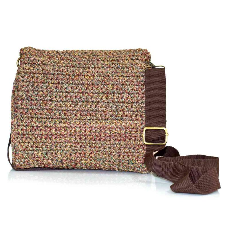 bailloo Square Mutlicolored handmade knitted kourelou bag BLT734